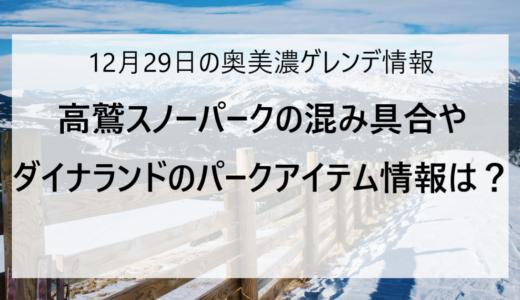 【12/29更新】奥美濃エリアのスキー場ゲレンデ情報