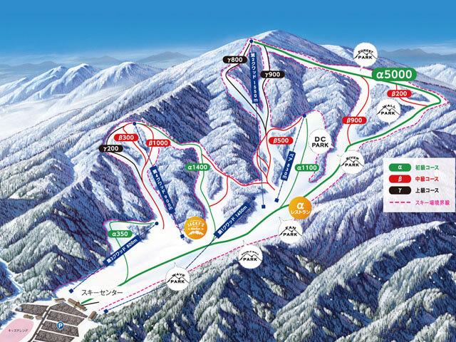 めいほうスキー場 奥美濃 ゲレンデマップ コース