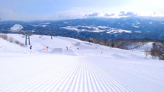 奥美濃 スキー場 ダイナランド スノーボード コース
