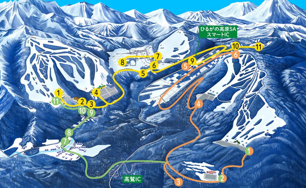 奥美濃 高鷲スノーパーク スキー場 アクセス 無料シャトルバス